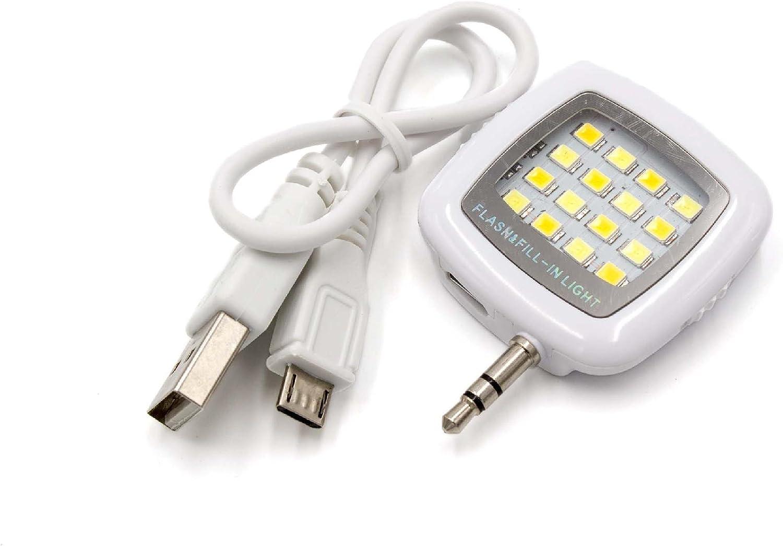 Vhbw Selfie Licht Weiß 16 Leds 3 Helligkeitsstufen Elektronik