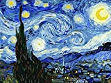 Paint by Numbers for Adults by BANLANA, DIY Adult Paint by Number Kits for Beginners on Canvas Rolled 16' by 20' (Van Gogh The Starry Night)