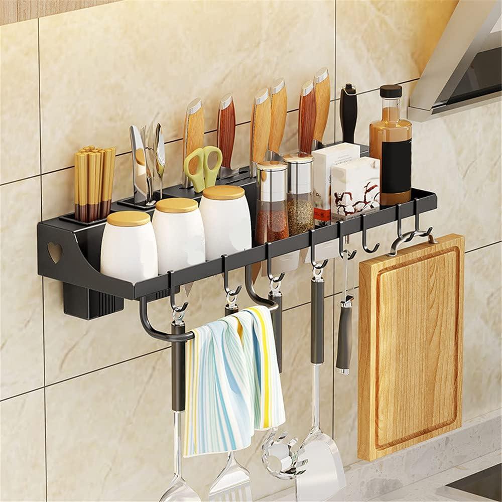 NAGT Metal Wall 55% OFF Over item handling Mount Floating Shelf Rack Kitchen Spice Storage