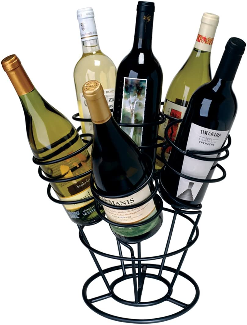 Oenophilia Bottle Bouquet Wine Black Rack Tabletop Great interest Special Campaign Metal