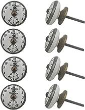 Indian-Shelf Handmade Ceramic Paris Door Knobs Clocks Kitchen Pulls Dresser Handles(Turquoise, 1.5 Inches)-Pack of 8