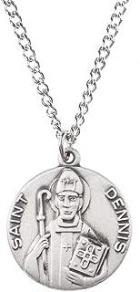 Pewter Catholic Patron Saint Dime Size Medal Pendant, 3/4 Inch