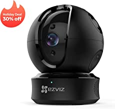 EZVIZ Pan/Tilt/Zoom Camera 1080p IP Dome Security Surveillance System Night Vision Auto Motion Tracking Pet Baby Monitor Two Way Audio Compatible with Alexa WiFi 2.4G Only BK CTQ6C
