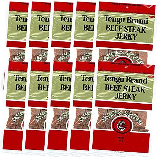 テング ビーフジャーキー ミディアムチャンク 160g (レギュラー)10袋セット おつまみ 天狗