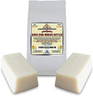 Organic Unrefined Raw MANGO BUTTER JAR/BLOCKS Bulk, Light Mango Aroma, Non-Greasy Base for Beauty, Skin Moisturizing, DIY ...