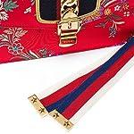Fashion Shopping Gucci Sylvie Red Jacquard Floral Tokyo Silk Small Bag Ribbon Leather Handbag New