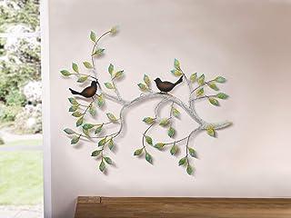 Decoración mural, diseño de rama con pájaros