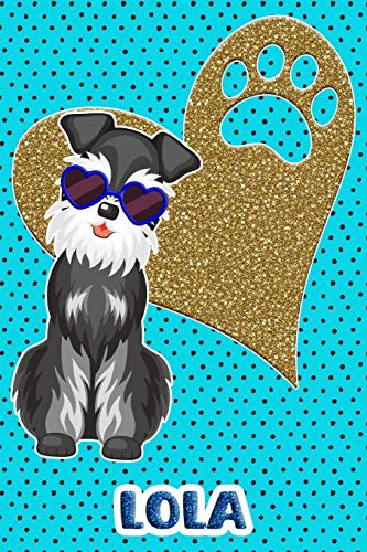 Schnauzer Life Lola: College Ruled | Composition Book | Diary | Lined Journal | Blue