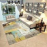 ZHAOPAI Alfombra baño Patrón de diseño de Arco Azul Alfombra de sofá de Moda Resistente al Desgaste y fácil de Mantener alfombras recibidor -Mostaza Amarilla_El 120x160cm