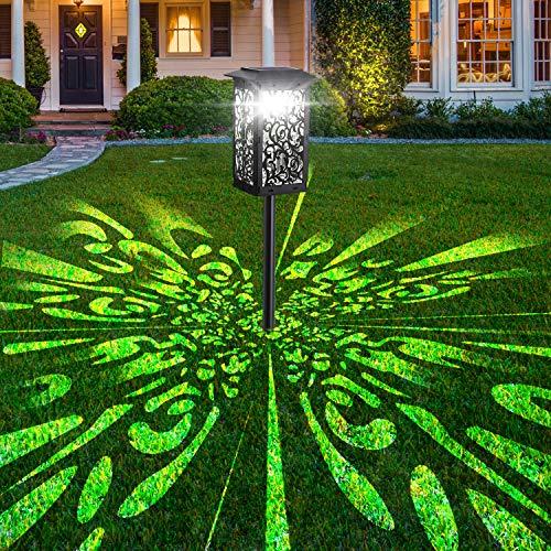 Upgrade Solar Pathway Garden Lights, Super Bright Lantern Waterproof Landscape Path Light, LED Spotlights Outside Wireless Solar Powered Lamp for Garden Patio Lawn Yard Path Sidewalk (White Lighting)