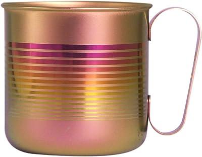 HORIE(ホリエ) チタンデザインマグカップ ボーダーS ピンク 容量320cc