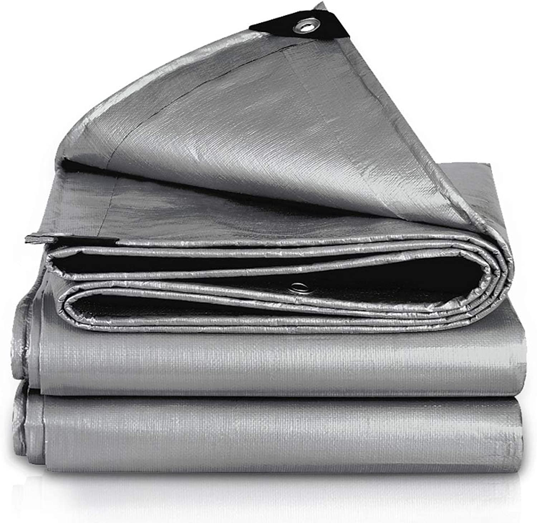LSLMCS Tarpaulin tarp Tarpaulin Waterproof Heavy Duty Tarp Sheet Cover with Eyelets for Garden Furniture, Hutch, Trampoline, Wood, Car, Camping Or Gardening4x6m  Grey (Size   3X3m)