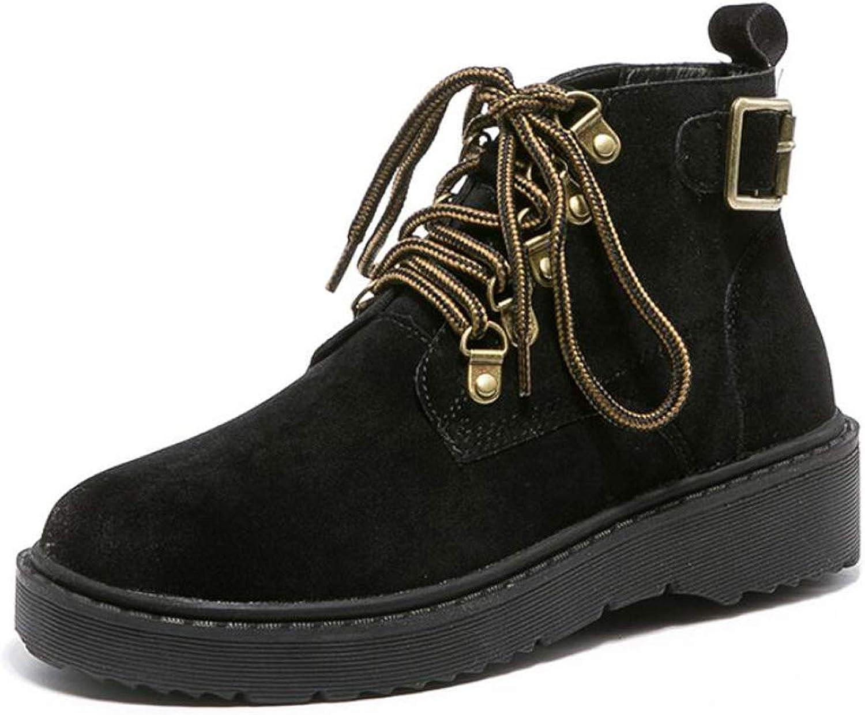 DANDANJIE Women's shoes Retro British Style Student Martin Boots