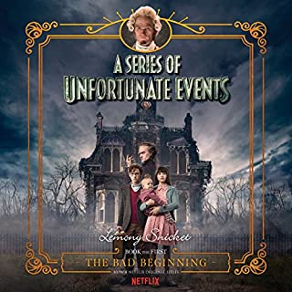 The Bad Beginning, A Multi-Voice Recording     A Series of Unfortunate Events #1              By:                                                                                                                                 Lemony Snicket                               Narrated by:                                                                                                                                 Tim Curry,                                                                                        Full Cast                      Length: 2 hrs and 29 mins     3,747 ratings     Overall 4.4