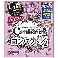 ユニチャーム センターイン コンパクト1/2 多い夜用 羽つき スリム スイートフローラルの香り 12枚 まとめ買い(×18)