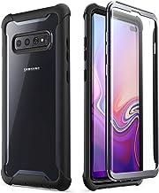 i-Blason Funda Galaxy S10 Plus [Ares] Anti-rasguños Protección de 360 Grados con Protector de Pantalla Incorporado [NO Compatible con Sensor de Huellas Digitales] (Negro)