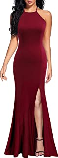 burgundy tight prom dress