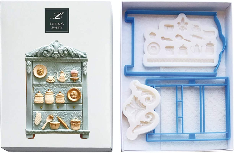 Lorena S Sweet Fondant Cookie Kit Armoire China Cabinet