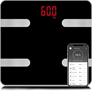 Báscula Digital, Sendowtek Balanza de Grasa Corporal, Body Fat Scale, Bascula Inteligente Corporal Digital Bluetooth 4.0, ...