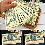 Forum Novelties 2 Packs $100 Dollar Bill Facial Tissue Napkins Benjamins Fake Money Gag Gift New 2