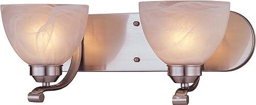 Minka Lavery 5422-84, Paradox Reversible Glass Wall Sconce Lighting, 2 Light, 200 Watts, Nickel