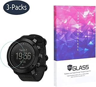 Tempered Glass Screen Protector BECROWM 9H Hardness Protective Glass for Suunto Traverse Alpha,2.5D Full Coverage High Def...