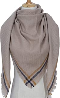 Lightweight Triangle Scarf Unisex Acrylic Scarf Warm Pure Color Scarf Oversized Shawl,Perfect Accent to Any Outfit (Color : 01)