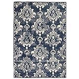 Festnight- Matten Vintage Teppich Modern Barock-Ornamente 160 x 230 cm Beige und Blau