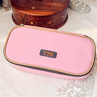 YWSCXMY-AU Multi-Function Pencil Case Large Capacity Canvas Pen Student Stationery (Color : Pink)