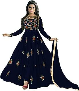 Colourfull Button Women's Faux Georgette Semi-Stitched Anarkali Salwar Suit 💌 ❤️ 🧡