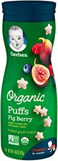 Gerber Organic Fig Berry Puffs, 42 gm