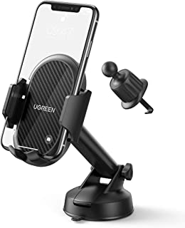 UGREEN Windscreen Car Phone Holder Suction Cup Dashboard Mount Air Vent Mobile Clamp Cradle Long Arm Compatible with iPhon...