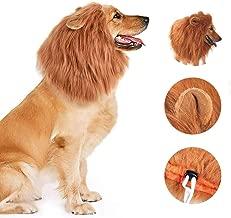 Pradye Dog Lion Mane Costume Dog Lion Wig for Dog Large Pet Festival Party Fancy Hair Dog Clothes