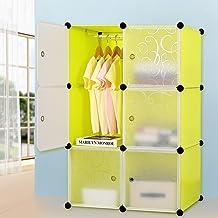 Armario de plástico armario de gabinete portátil DIY organizador de almacenamiento de ropa modular unidad de almacenamient...