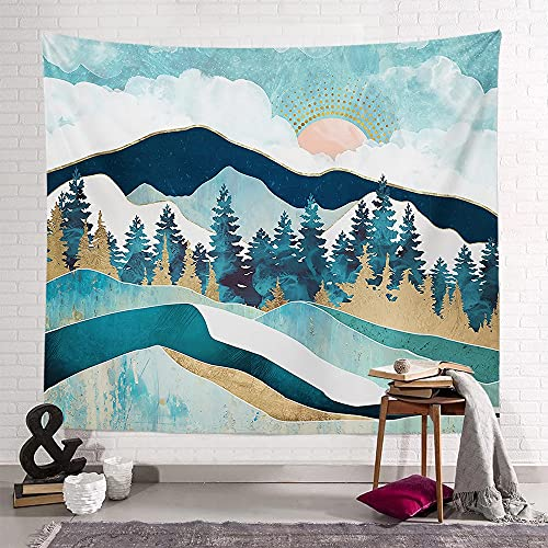 KHKJ Tapiz Sunset Mountain Series Toalla de Playa Decoración de Dormitorio Sala de Estar Familiar Tapiz de Dormitorio Fondo Cintas de Pared A6 150x130cm