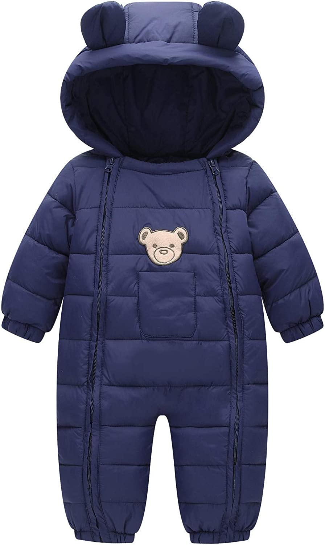 Bestgift Unisex Japan Maker New Infant cheap Baby Toddler Warm Hooded Winter Snowsuit