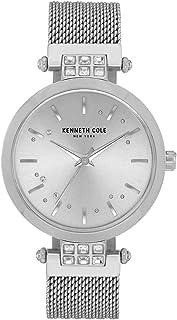 Kenneth Cole Women's Crystal Mesh KC50960001 Silver Stainless-Steel Quartz Dress Watch
