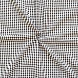 100% Baumwollstoff Karos mittel Stoff Meterware Braun-Weiss