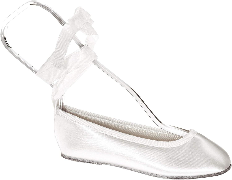 Touch Ups Girls' Gypsy Slip-on Shoes,White Satin,12 M