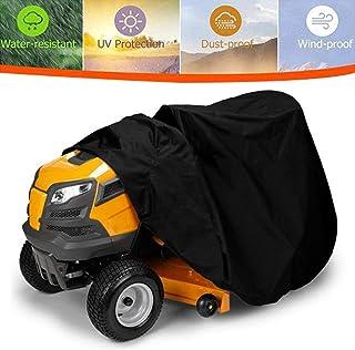 RANHOME Cubierta para cortacésped Walk Behind Gardens Premium Heavy Duty 210D tela de grado marino, universal, protección contra el moho, UV y UV, bolsa de almacenamiento con cordón