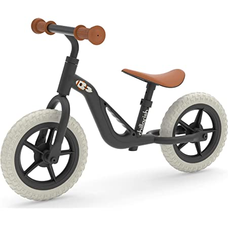 Chillafish Charlie Lightweight Toddler Balance Bike with Carry Handle, Adjustable Seat and Handlebar, Puncture-Proof 10-inch Wheels and Custom Molded seat, for Kids Ages 18-48 Months, Black