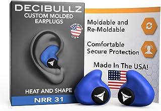 Decibullz - Custom Molded Earplugs, 31dB Highest NRR, Comfortable Hearing Protection for Shooting, Travel, Swimming, Work ...