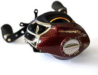 Isafish Baitcasting Reels 18BB 6.3:1 Gear Left/Right Handed Baitcaser Reel Low Profile Baitcast Fishing Reel
