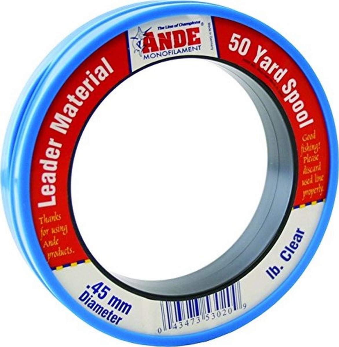 Ande 1 year warranty PCW Premium Fishing Rare Lines Clear 125 40 Yard lb