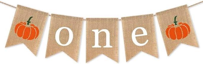 SWYOUN Burlap Pumpkin One Banner Boy Girl 1st Birthday Party Supplies Decoration