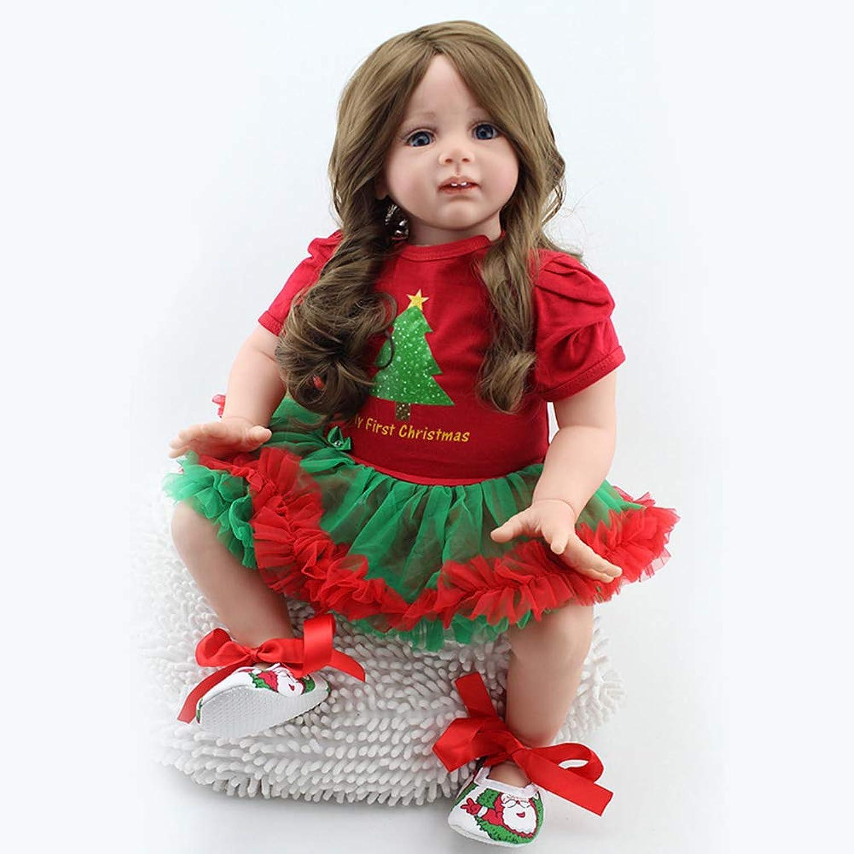 disfruta ahorrando 30-50% de descuento ZXKS Rebirth Baby 24 Pulgadas muñeca de de de simulación de Silicona Suave Falda verde roja Cuidado de la educación temprana formación  encuentra tu favorito aquí