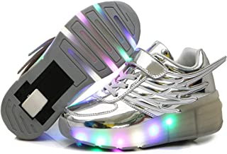 CPS LED Fashion Sneakers Kids Girls Boys Light Up Wheels Skate Shoes Comfortable Mesh Surface Roller Shoes Thanksgiving Christmas Day Best Gift