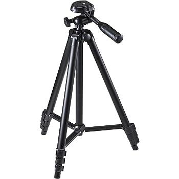 サンワダイレクト 三脚 4段 軽量542g コンパクト クイックシュー式 ビデオカメラ ミラーレス ケース付き 200-CAM021N