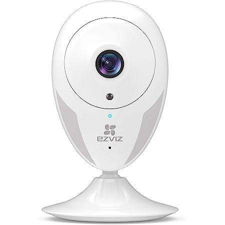 EZVIZ IP Cámara Vigilancia WiFi Interior 1080P, Ideal para Mirar Bebés o Mascotas, Detección de Movimiento, Works with Alexa Google Home, Audio de 2 Vías, Visión Nocturna CTQ2C 1080P (Blanco)