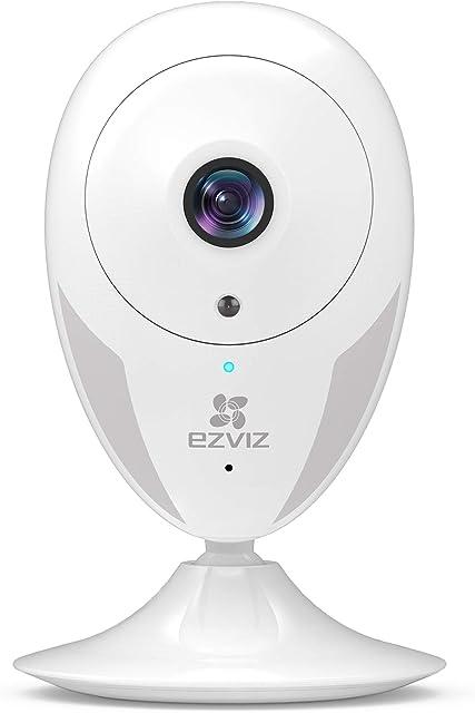 EZVIZ Cámara de vigilancia WiFi Interior 1080P Full HD cámara IP WiFi WiFi 2.4GHz Hogar Bebé Monitor Visión Nocturna Alerta de Movimientos Audio bidireccional Compatible con Alexa Modelo Blanco CTQ2C